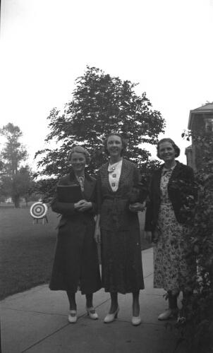 "3.24.5: ""College Types - Spring 1937"" Jacquieline Johnson, Evangeline Rotenberry, Doris Caldwell"