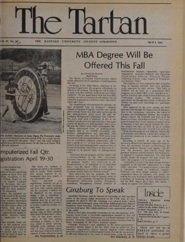 Tartan, 1982-04-08
